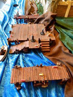 Dungeons & Dragons, Huge Wharf & Docks. 3 pc set. lot D&D scale RPG terrain RPG #Lemax