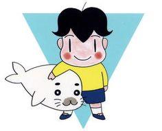 "Boy Ashibe (Shonen Ashibe), the seal is ""Goma-chan"""