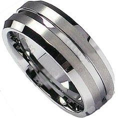 Tungsten Carbide Men's Ladies Unisex Ring Wedding Band 7MM Matt Finish Grooved Center Comfort Fit (Available in Sizes 8 to 12) DazzlingRock Collection. $14.99. Stamped Tungsten Carbide. Unisex Ring. Get most bang for your buck. 8mm wide