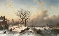 Charles Leickert - Winter in Holland