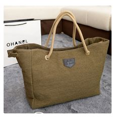 #990-Brown-wholesale canvas ladys handbags OL bags