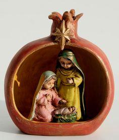 Nativity of the Holy Family in a Pomegranates
