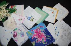 Vintage Hankies Tears of Joy Collection of by CheekyVintageCloset, $34.50