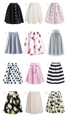 Take a look at the best ideas on how to wear a midi skirt in the photos below and get inspiration for your outfits! Mode Outfits, Skirt Outfits, Dress Skirt, Dress Up, Dress Casual, Flare Skirt Outfit, Chic Dress, Classy Dress, Trendy Outfits