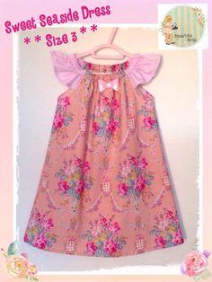 Handmade by Lisa @ Beautiful Belle Sweet Seaside dress - Size 3