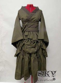 Custom Bustled Kimono Set por skycreation en Etsy, $105.00