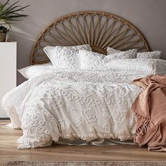 Home Republic - Bahama Rattan Bedhead Honey Half Moon Wood Bedroom Sets, Grey Bedroom Furniture, King Bedroom Sets, Home Decor Bedroom, Furniture Design, Queen Bedroom, Plywood Furniture, Modern Bedroom, Chair Design