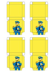 """The Simpsons """"Chief Wiggam"""" Boxes .... free to use and free to share for…"""