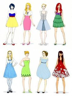 Disney princess inspired outfits!