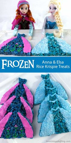 These Elsa Rice Krispie Treats are delicious, beautiful and easy to make. They will be a hit with the Frozen fans at your Frozen Birthday Party. Birthday Party Treats, Frozen Themed Birthday Party, Girl Birthday Themes, Birthday Party Tables, Birthday Ideas, Disney Frozen Party, Elsa Frozen, Rice Krispie Treats, Rice Krispies