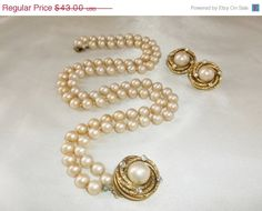 Vintage BERGERE Creamy Ivory Glass Pearl Double by MemawsTopDrawer, $38.70