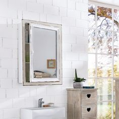 Spiegelschrank bad landhaus  badschrank weiß, badezimmer ideen, Landhausstil, schrank weiß ...