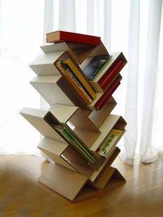 porta riviste di cartone - Cardboard bookshelves