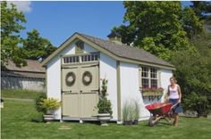 Amazon.com : Little Cottage 12 x 10 ft. Williamsburg Colonial Panelized Garden Shed : Storage Sheds : Patio, Lawn & Garden