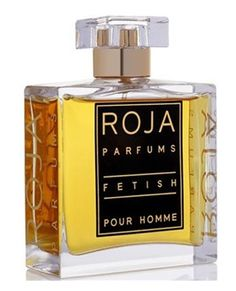 Fetish Pour Homme Roja Dove for men.  Top notes are bergamot, lemon and lime; middle notes are fig, jasmine, neroli and violet; base notes are cardamom, cinnamon, elemi, oakmoss, patchouli, pepper, vetiver, ambergris, benzoin, castoreum, labdanum, leather, musk and vanilla.