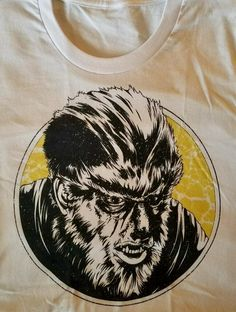 Howl at the moon with this retro inspired Wolfman t-shirt! #horror #wolfman