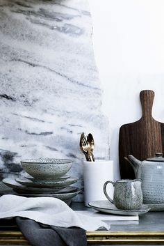 Broste Copenhagen Nordic Stoneware - there's plenty in stock at Andrassy Living Decoration Chic, Decoration Inspiration, Interior Inspiration, Decor Ideas, Decorations, Interior Desing, Interior Styling, Country Look, Food Photography Props