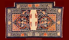 ANTIQUE TIBETAN SADDLE , ANTIQUE CHINESE AND TIBETAN RUGS_141306438403