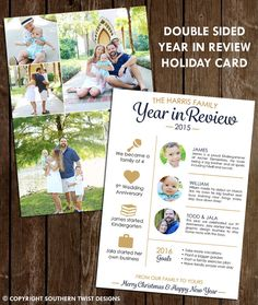 Happy New Year  Year In Review Card  Newsletter by SouthernTwist1