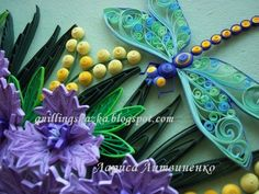 Fairy tale about quilling: Butterfly dragonfly