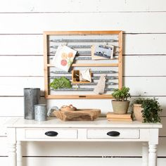 Really adorbs but I think I can make this   Wire Memo & Picture Board - Magnolia Market | Chip & Joanna Gaines