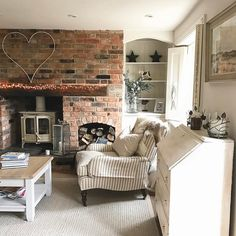Heading up to North Norfolk in the morning to make the cottage lovely for our weekend guests. Cottage Lounge, Cottage Living Rooms, New Living Room, Living Room Decor, Cottage Shabby Chic, Snug Room, Inglenook Fireplace, Country Interior, Country Cottage Interiors