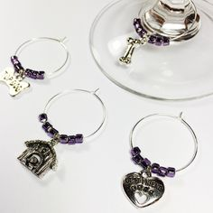 New purple dog lover wine charms...I can always raise a glass to man's best friend! 🍷