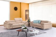 J&M Furniture A973 Premium Peanut Sofa Set SKU179061113  For $2693