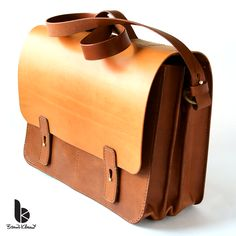 Handmade leather a briefcase with an accordion gusset by Brano Klocan LEATHERCRAFT Ručne šitá kožená aktovka Handmade Leather, Leather Craft, Briefcase, Decoration, Fashion, Clutch Bags, Bags, Leather Crafts, Dekoration