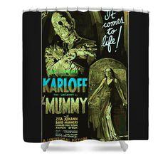 The Mummy Movie Poster Shower Curtain By Joy McKenzie On Pixels Showercurtain