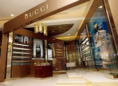 Fashion gucci store and showroom for Retail design agency london