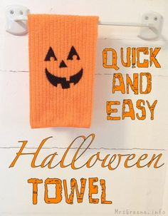 Tutorial: Quick and Easy Halloween Towel