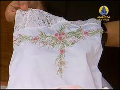 Bordado de Toalha de Ponto Vagonite - \\ aula bem  explicada\\bordado lindo e perfeito\\