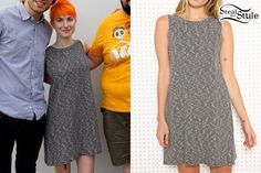 Hayley Williams: Black and White Swing Dress Hayley Williams Style, Falling In Reverse, Black Veil Brides, Celebs, Celebrities, Swing Dress, Her Style, Celebrity Style, Cute Outfits