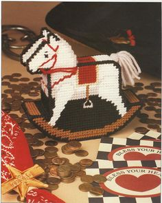 Rocking Horse Bank Plastic Canvas Pattern by needlecraftsupershop, $3.00