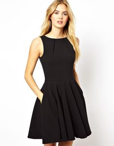 Closet Fit and Flare Skater Dress (on sale at ASOS)! Made in the UK