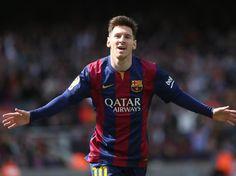 Messi celebra el 4-0. Barça-Rayo .Foto: PEP Morata