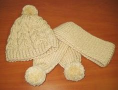 Gorro y bufanda infantil
