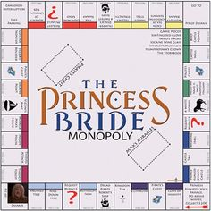 The Princess Bride Monopoly.I LOVE the princess bride ! I so want this game! Paper Journal, The Princess Bride, Real Princess, Princess Bride Quotes, Disney Princess, Funny Celebrity Pics, Monopoly Board, Monopoly Game, Inigo Montoya