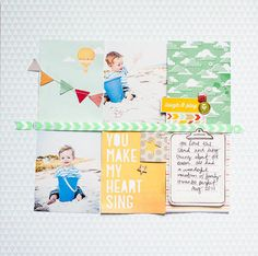 Loved her use of this size of cards on a traditional layout.