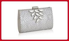 Inge Christopher Cefalu Clutch (Silver) - Evening bags (*Amazon Partner-Link)