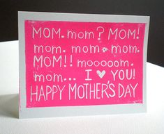 Cute card idea for mother's day