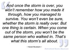 And once the storm is over - Haruki Murakami - Quotes and sayings