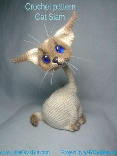 Cat siam amigurumi project by уЧУСьВязатЬ #LittleOwlsHut, #Amigurumi, #CrohetPattern, #Crochet, #Crocheted, #Cat, #Pertseva, #DIY, #Craft, #Pattern