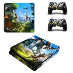 Horizon Zero Dawn Slim Skin Sticker Decal For Sony PlayStation 4 Slim Console and 2 Controllers Slim Stickers Vinyl. Click visit to buy Playstation, Ps3, Sony Ps4, Horizon Zero Dawn Aloy, Nintendo, Ps4 Controller, Games To Buy, Gaming Accessories, Ps4 Games