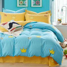 Blue Olive Leaf Duvet Cover Bedding Sets