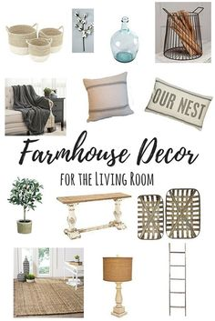 How to Get a Farmhouse Look in Your Living Room. Come along with me as we virtually decorate our living rooms to give them all the farmhouse feels. - Beauty For Ashes