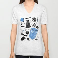 Artifacts: Doctor Who Unisex V-Neck by Josh Ln - $24.00