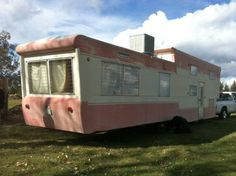 """Lovely and much sought after double decker, vintage trailer. Many people are buying Vintage Mobile Homes to remodel them, or building/buying Tiny Homes. People are doing this in response to the Recession. It's a greener more authentic way to live on this Earth. It's what's best for future generations. Join us in the newly termed """"Modern Simplicity Movement""""! Proudly post your pics on Pinterest."""