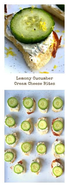 Lemony Cucumber Cream Cheese Bites - perfect treat for St. Patrick's Day dinner or springtime entertaining!